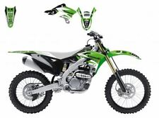 BLACKBIRD KAWASAKI KXF 250 2014 KIT GRAFICHE ADESIVI DREAM 3 GRAPHIC VERDI NERE