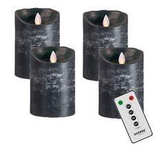 4 Set velas de adviento! Sompex Llama vela LED V14 Antracita 12,5cm con FB 36560