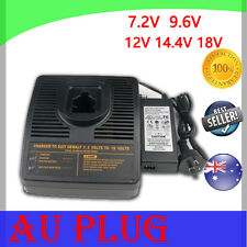 Battery Charger for Black Decker 9.6V 12V 14.4V 18V Ni-Cd Ni-MH  A9277 A9282 AU