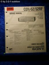 Sony Service Manual CDX 52 / 52RF CD Changer (#3498)