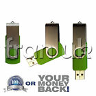32GB GREEN Swivel USB 2.0 Flash Drive Memory Stick Pen Storage Device Thumb UK