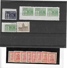 España. Conjunto formado por sellos Locales y Franquicias del Ejercito