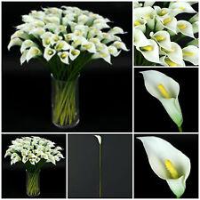 5 St. Calla Kunstblume Deko Zimmer Künstliche Hochzeit Blumen Kunstpflanze G169