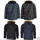 New Children Boys Padded Waterproof Winter Coat School Fur Parka Pockets Jacket