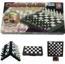 Mini Chess Board Folding Magnetic Board Game Set US Seller