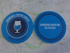 BEER Coaster    GROUNDSWELL Brewing Co    San Diego, CALIFORNIA    Thirsty World