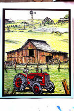 OLD  TRACTOR (U get photo # 2)  L@@k@ examples MAKE AN IMPRESSION RUBBER STAMPS
