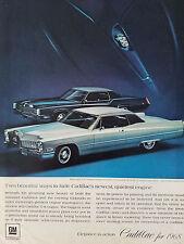 1968 Cadillac Fleetwood Eldorado Coupe DeVille Car Color Original Ad