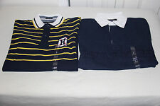 TOMMY HILFIGER MENS  RUGBY POLO - SZ SMALL LOT OF 2 SHIRTS-NWT