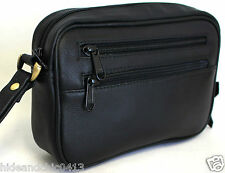 RFID SLEEVE FREE. Men's Full Grain Cow Hide Leather Clutch Bag. Black.Sty:51012.