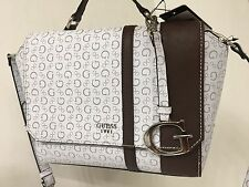 GUESS SWIM Grey Multi Bag Messenger/Signature White Grey Brown/NWT