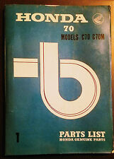 C70 C70M Parts List 1969 C 70 C 70M Honda Factory Original Parts Manual 70