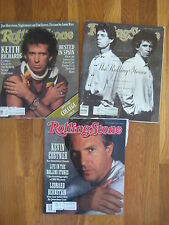 Lot of 3 vintage ROLLING STONE MAGS Mick Jagger Keith Richards 1988 1989 1990