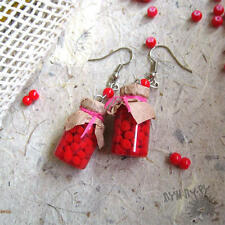 Earrings Jars with Jam Girlfriend gift for her realy 100% Handmade thermal clay