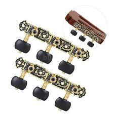 Acoustic Classical Guitar Tuning Pegs String Tuners Machine Heads Black Y3R0