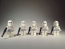 2016 LEGO Star Wars Lot of 5 Snowtrooper Army minifigures 7749 8084 8129