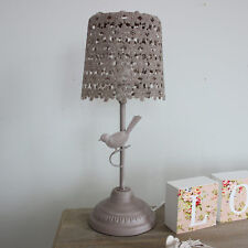 brown bird design vintage effect table lamp home decorative item
