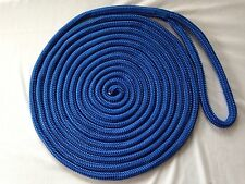 "5/8""x 30 feet Blue Double Braid Nylon Rope Dock Line"