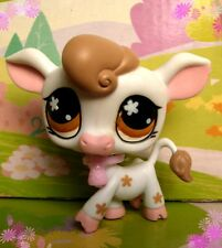 LITTLEST PET SHOP(354)-White Farm Cow #476