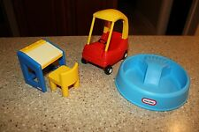 LITTLE TIKES DOLLHOUSE SWIMMING POOL COZY COUPE CAR DESK & CHAIR