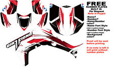 DFR TWIST GRAPHIC KIT WHITE RD SIDES/FENDERS 06-07 HONDA TRX450R TRX 450  TRX450
