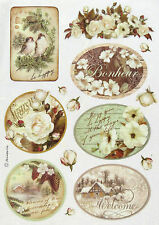 Ricepaper / Decoupage paper, Scrapbooking Sheets Winter Wood and Frames