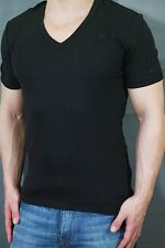 G-star T-Shirt BASIC V-Neck short sleeve black size S slim fit Double Pack