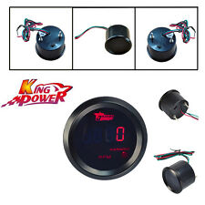 "Car Motor Auto 2"" 52mm Red Digital LED Elec 0-9999 RPM TACHOMETER TACHO GAUGE"
