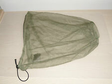 British Army-Issue Olive-Green Headnet. Mosquito & Midge Repeller.