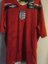 England 2008-2009 Squad Signed Football Shirt Rooney Beckham james BNWT /3331