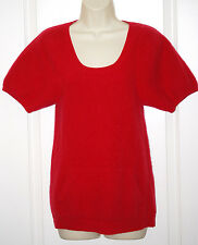 Anthropologie THEORY Red thick 100% CASHMERE tunic sweatshirt sweater M 8 10