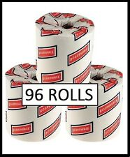 96 Rolls Bathroom 2-ply Tissue Toilet Paper White Wholesale Case 500 Sheets New