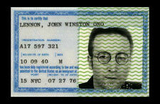 Framed Print - Beatles John Lennon Original American ID Card (Picture Poster Art