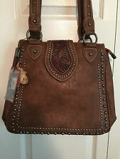 NWT Montana West Concealed Carry (Right or Left Side) Bag - BROWN w/Holster