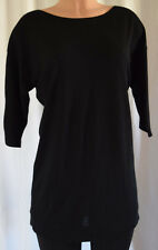 BALENCIAGA KNITS WOOL/CASHMERE 3/4 SLEEVES BLACK COLOR  TOP SIZE  40