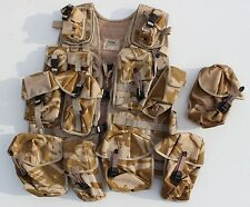 GENUINE BRITISH ARMY MOLLE TACTICAL LOAD BEARING ASSAULT VEST in DESERT CAMO