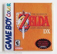 Legend of Zelda Link's Awakening FRIDGE MAGNET video game box game boy color dx