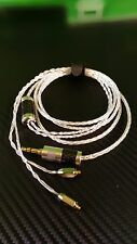 Cable pure silver for SHURE SE846 SE535 SE215 UE900 -8 core -Eidolic trs jack