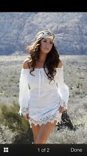 Union Of Angels Lace Cowgirl Dress White Tara Cotton Stagecoach Coachella Wow!
