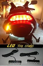 2x Universal Motorcycle Bike Amber LED Turn Signal Indicator Blinker Light Strip