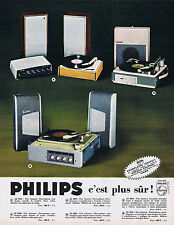 PUBLICITE ADVERTISING 094 1964  PHILIPS gamme electrophone