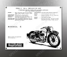 VINTAGE ROYAL ENFIELD 1938 MODEL C 346cc IMAGE BANNER NOS IMAGE REPRODUCTION