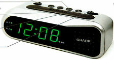 Sharp Digital DUAL ALARM Clock Electric w/ Battery Backup ASCENDING ALARM SPC100