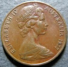 *AUSTRALIA, Vintage 1977  2 CENTS COIN, Queen E II Obverse Very Fine Circulated
