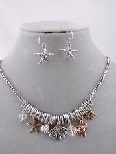 Ocean Starfish Turtle Necklace Set Silver Copper Gold Fashion Jewelry New