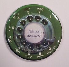 Telephone Dial 1960s Retro Vintage Style Fridge Magnet 2 1/4""