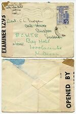 PORTUGUESE MADEIRA WW2 1941 DOUBLE CENSORED 4293 1293 TWO TAPES FORWARDED in GB