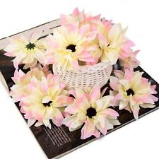 20pcs Gerbera Daisy Heads Artificial Silk Flowers Corsage Decor DIY Pink