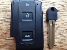 TOYOTA AVENIS CROWN PRIUS VERSO RAV 4 SMART 3 BUTTON REMOTE KEY CASE TOY43 BLADE