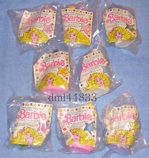 1991 McDonalds Barbie MIP Complete Set & U3 - Lot of 9, Girls, 3+